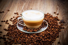 Cup of coffee latte Royalty Free Stock Photography