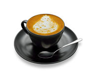 Cup of coffee. Latte art , coffee on white background royalty free stock photos