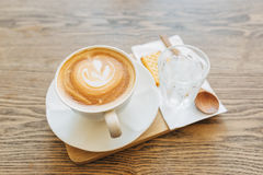 A cup of Coffee latte Royalty Free Stock Images