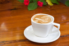 Cup of coffee latte Stock Images
