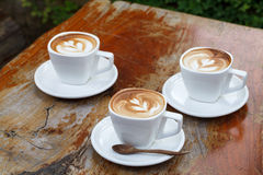 Cup of coffee latte Royalty Free Stock Photos