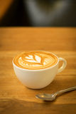 Cup of coffee latte Royalty Free Stock Images