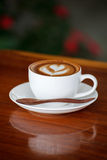 A cup of coffee latte Royalty Free Stock Photo
