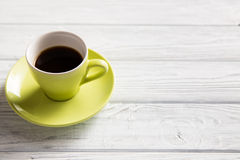 Cup of coffee. On the light background Royalty Free Stock Photo