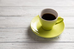 Cup of coffee. On the light background Stock Photography