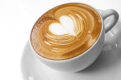 Cup of coffee with Love. Heart latte art Royalty Free Stock Photos