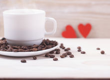 Cup of coffee with love Stock Images