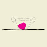 Cup of coffee for lovers Royalty Free Stock Photo
