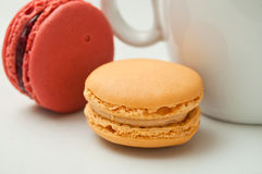 Cup of coffee with  macaron Stock Image