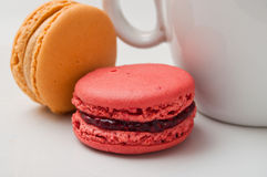 Cup of coffee with  macaron Royalty Free Stock Photography
