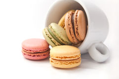 Cup of coffee with  macaron Royalty Free Stock Image