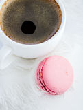 Cup of coffee and macaroon Royalty Free Stock Photography