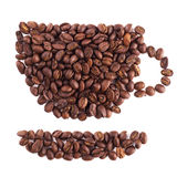 Cup of coffee made from beans Royalty Free Stock Image