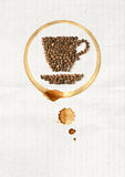 Cup of coffee made from coffee beans Stock Photography