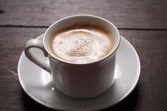 Cup of coffee made from fresh roasted coffee beans Stock Images