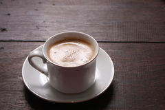 Cup of coffee made from fresh roasted coffee beans Stock Image