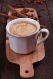 Cup of coffee made from fresh roasted coffee beans Stock Photography