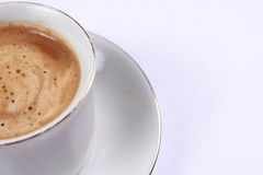 Cup of coffee made from fresh roasted coffee beans Royalty Free Stock Photography