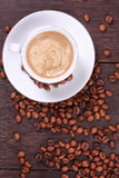 Cup of coffee made from fresh roasted coffee beans Royalty Free Stock Images