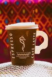 A cup of coffee made of paper royalty free stock photo