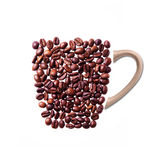 Cup of coffee made from real coffee Royalty Free Stock Photography