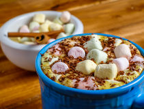 Cup of coffee with marshmallows Royalty Free Stock Image