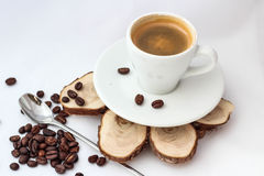 Cup of coffee for menu and love Stock Photo
