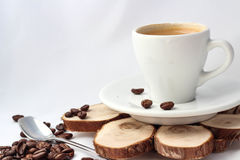 Cup of coffee for menu and love Royalty Free Stock Image