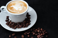 Cup of coffee for menu and love Royalty Free Stock Photo