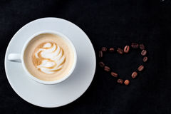 Cup of coffee for menu and love Royalty Free Stock Photography