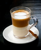 Cup from coffee with milk Royalty Free Stock Photos
