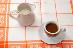 A cup of coffee and milk Stock Photo