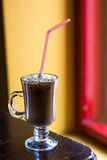 Cup of coffee with milk foam Royalty Free Stock Photos