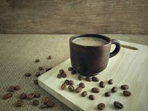 A cup of coffee milk in the morning. Use for background stock image