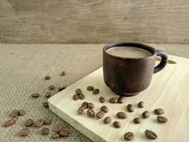 A cup of coffee milk in the morning. Use for background stock images