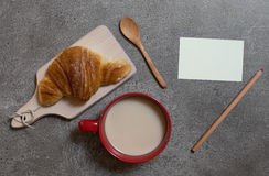 Cup of coffee with milk Royalty Free Stock Photos