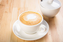 A cup of coffee with milk Royalty Free Stock Photo