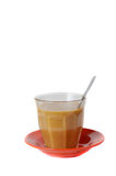 Cup of coffee. With milk on white background Stock Photo