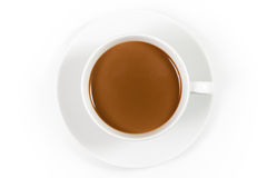 Cup of coffee with milk Royalty Free Stock Image