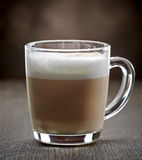 Cup of coffee with milk Stock Image