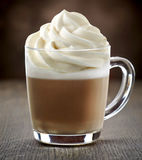 Cup of coffee with milk Royalty Free Stock Images