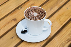Cup of coffee mocha. Cup of hot coffee mocha Stock Photography