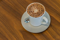 Cup of coffee mocha Royalty Free Stock Images
