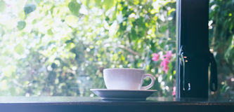 Cup of coffee in the morning Stock Photography