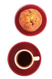 Cup of coffee and muffin. Royalty Free Stock Photo