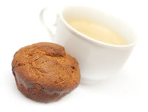 Cup of coffee and muffin Royalty Free Stock Photo