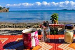 A cup of coffee in Nacula Island in Fiji Stock Image