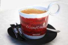 A cup of coffee Nescafe Stock Photo
