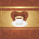 Cup of coffee on the ornamental background royalty free stock photos