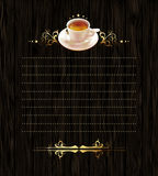 Cup of coffee with ornate elements Royalty Free Stock Photos